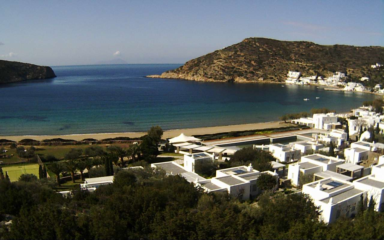 Vathi Bay webcam - Elies Resort webcam, Cyclades, Cyclades
